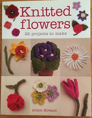 Knittted Flowers By Alison Howard - Book