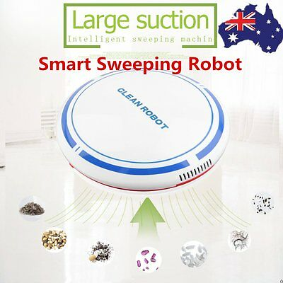 Robot Vac Auto Robotic Vacuum Cleaner Smart Automatic Floor Sweeper Rechargeable