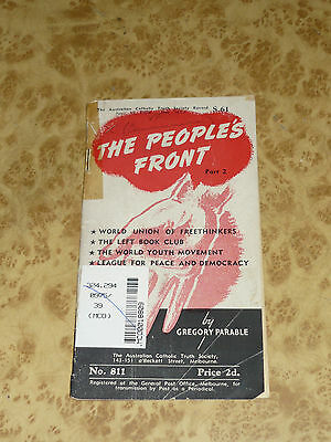 THE PEOPLES FRONT Truth Society WW2 era Anti Communism Booklet - Vintage Book