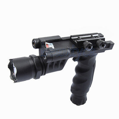 Vector Optics Tactical Handle Fore Grip Flashlight Red Laser Combo Sight