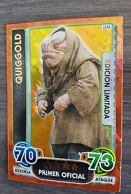 Star Wars Force Attax Extra - RARE SPANISH - QUIGGOLD Limited Edition LEPA!