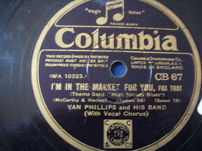 Van Phillips and his band Just like in a story book -I´m in the market for 78rpm