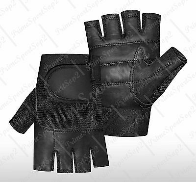Weight Lifting Gym Padded Leather Fitness Training Sports Wheelchair Gloves
