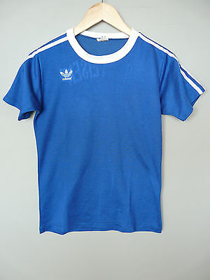 Vintage Adidas Erima 80s Football Shirt Trikot Made In West Germany Sz Small 3/4