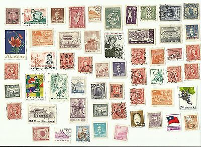 China (and other Asian countries) postage stamps x 55, used
