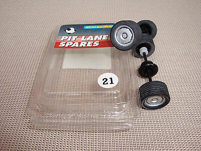 New Scalextric Wheels And Axles Complete With Tyres,  Pit Lane Spares