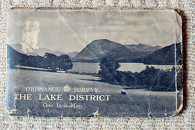 Ordnance Survey 1-Inch Tourist Map of The Lake District, 1948