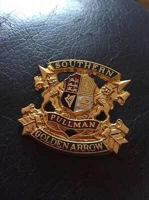 Old Southern Railway Golden Arrow Enamel Badge, Numbered.