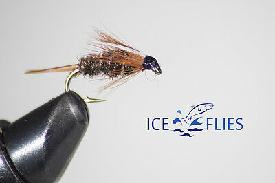 ICE FLIES. Nymph. Prince.  Pick a size (4-pack). Available in size 8 - 14