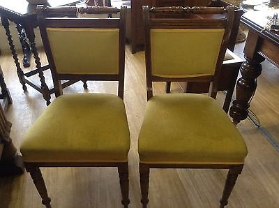 Beautiful Edwardian Chair (Two Available) - Reupholstery Service Available