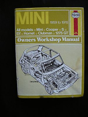 Haynes Owners Workshop Manual for MINI 1959 to 1978