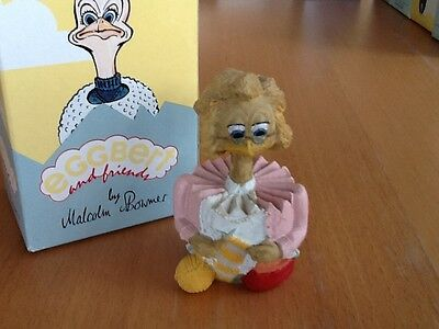 "Eggbert EG201 ""Clickety Chick"" Decorative Collectable Ornament Knitter Knitting"