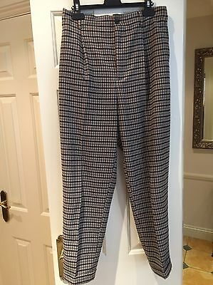 Zara Check Trousers With Pockets Size Medium