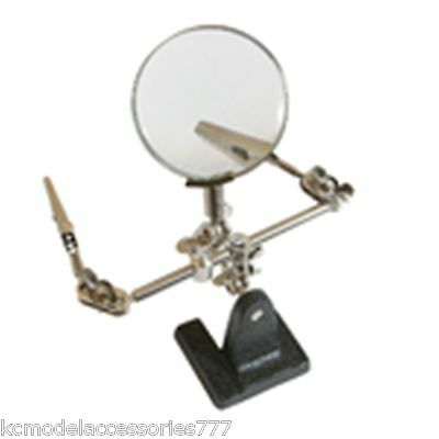 Helping Hands Model & Hobby Magnifying Glass Tool With Clips