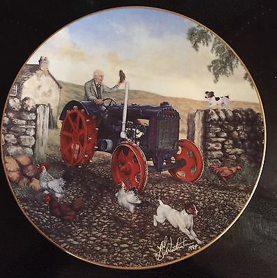 Border Fine Arts Plate. James Herriot's Yorkshire'New Technology Arrives'Tractor