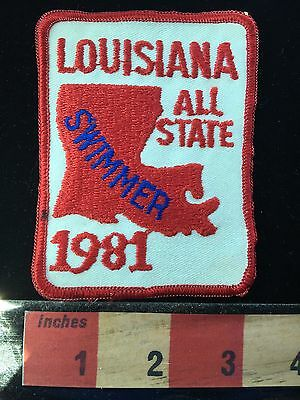 Vtg Louisiana Swim Patch ~ 1981 All- State Swimmer Collectible 66WI