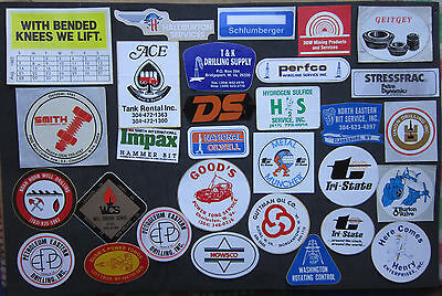 25 + Vintage Oil Well , Gas Well Drilling Stickers...good Condition