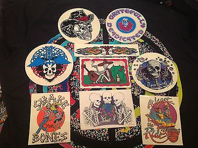 (9) Grateful Dead Adhesive Stickers, 1988-89-90-91,(Never Used) Relix Magazine