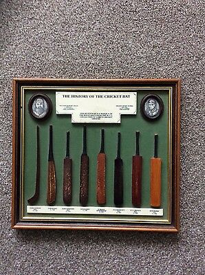 The History of the Cricket Bat wall plaque