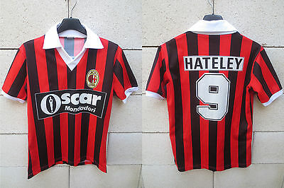 VINTAGE Maillot MILAN AC Mark HATELEY maglia calcio shirt 1985 rare jersey XS S