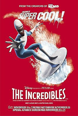 The Incredibles Laminated Mini Movie Poster A4 Style 3