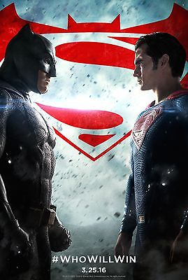 Batman Vs Superman Laminated  Mini  Movie A4  Poster Style 1