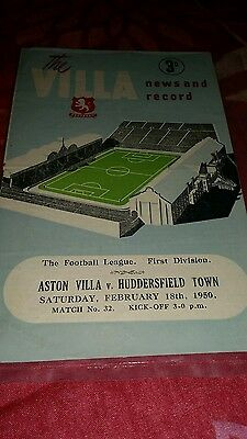 Aston villa programme 18th Feb 1950. Villa v Huddersfield Town. News and record