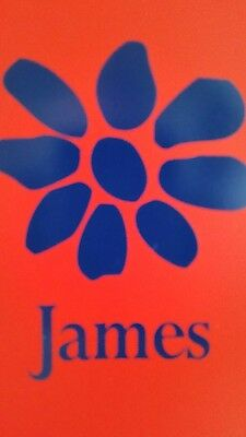 james the band tim booth magnet red  / blue