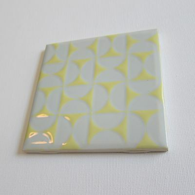 """Vintage 1960s 4"""" x 4"""" Wall Tile, 209 Sq Ft Available, Made in Italy"""