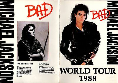 MICHAEL JACKSON Bad Tour Programme 1988 Excellent