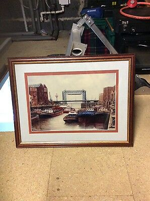 jack rigg, framed print, mouth of the river , signed, 1989