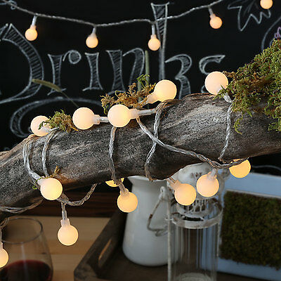 battery operated LED Fairy Lights 2 Mode String light 50 Ball 4.5M Warm White