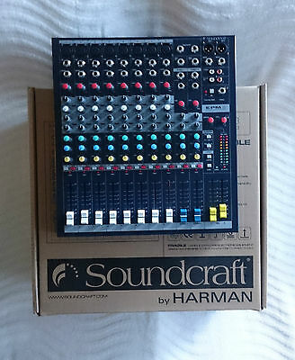 Soundcraft EPM8, 8 channel mixer. 1 of 2 available.