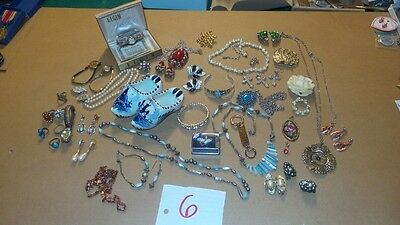 Vintage Lot Junk Drawer Collectibles, Jewelry some Gold filled, Unique Retro