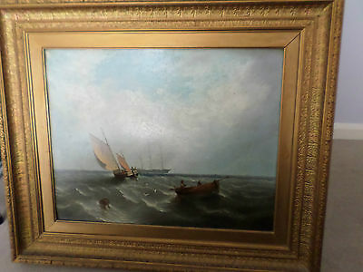 Antique Oil Painting By W Currie in 1874.