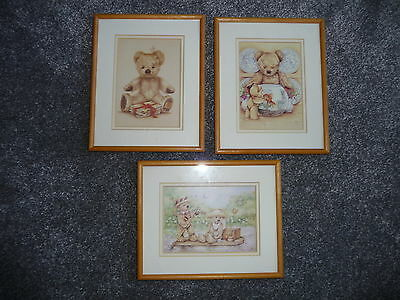 Teddy Bear Photo / Prints & Frame Classic Set of 3 Collectable