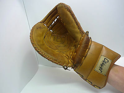 Vintage Ice Hockey Goalie Right Glove Catcher Trapper Leather Cooper GM6
