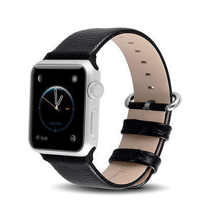 Apple Watch Replacement Band 38mm Series 1 2 Leather Strap Wristband Black New