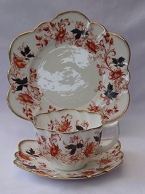 Paragon Star China antique daisy shape cup saucer plate trio; Wileman interest