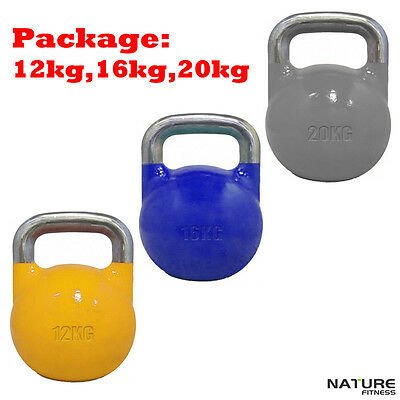Nature Fitness 12 16 20kg Weight Pack Competition Pro Grade Kettlebell Equipment
