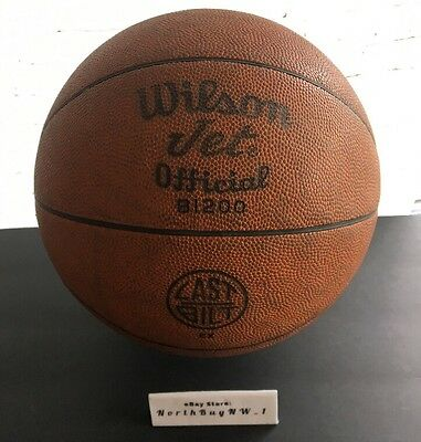 *RARE* Wilson Jet B1200 USA Made -Leather Basketball Official  ABA NBA VINTAGE