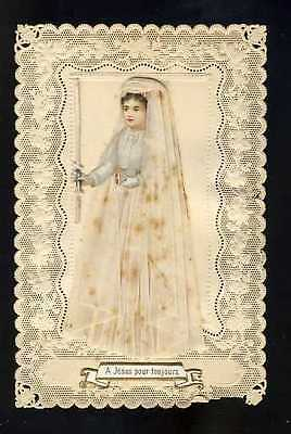 (112033) Holy card lace canivet andachtsbild: Communion, dressed