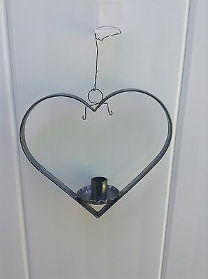 Vintage Metal Christmas Heart And Circle Hanging Candle Holders