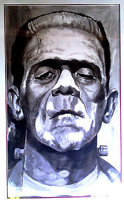 Signed Oversized Print of Painting of Movie Icon Frankenstein's Monster
