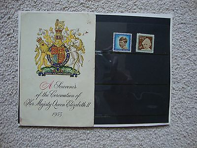 """1953 National Savings Card """" Souvenir Of 1953 Coronation """" With Stamps"""