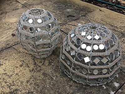 Lamp Shades Old Maybe Glass Pair