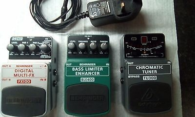 Behringer Multi Effects with BLE400 Bass Limiter and TU300 Tuner with Power