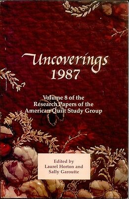 Uncoverings 1987 from AQSG : original 1989 printing now out of print