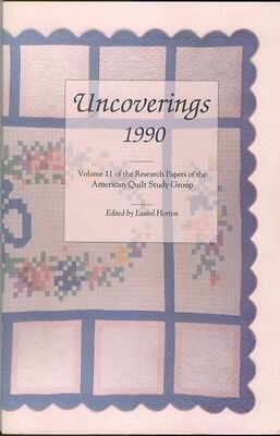 Uncoverings 1990 from AQSG : original 1991 printing