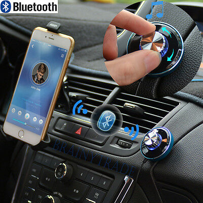 Bluetooth 4.0 Wireless Music Receiver 3.5mm Adapter Handsfree Car AUX Speaker